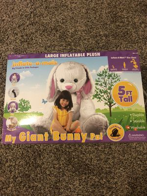 INFLATE-A-MALS Giant Inflatable 5 Foot Bunny Includes Foot Pump for Sale in FL, US