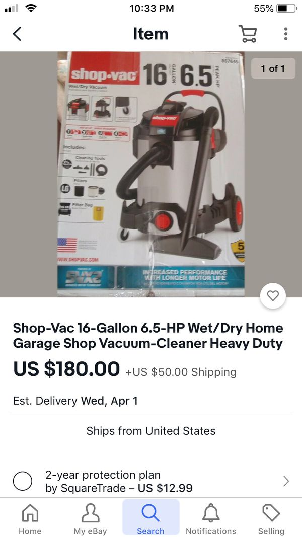 16 gallons shop vacuum new never used