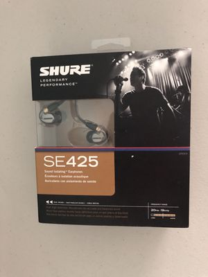 Shure SE425 Audiophile earbuds for Sale in Saint Pete Beach, FL