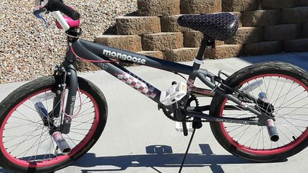 "This girls Mongoose BMX bike is in Excellent condition 24"" flamed Tires for Sale in Rancho Cucamonga,  CA"