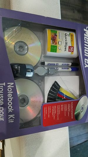 MEMOREX NEW NOTEBOOK KIT DVDR CDR MOUSE for Sale in Portland, OR