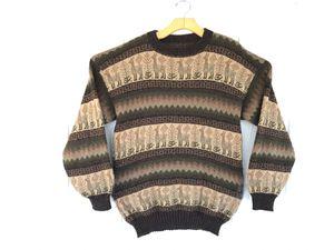 Vintage Wool Pullover Sweater Crewneck Llama Alpa Aztec Inca Sz L Native Ethnic chamarra for Sale in Orange, CA