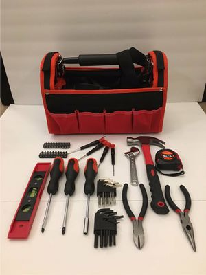 New in box 56 pcs olympia tool set screwdriver wrench hammock tool carrying bag case chest handyman for Sale in San Dimas, CA