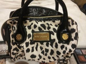 $65 Betsy Johnson Makeup Bag stuffed with lots of good lightly used makeup for Sale in Las Vegas, NV
