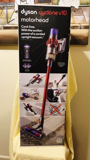 Dyson Cyclone V10 Motorhead Cordfree Vacuum Iron/Red for Sale in Anaheim, CA