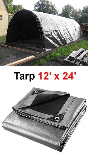 $25 NEW Heavy Duty 12'x24' 10mil Canopy Poly Tarp Reinforced Tent Car Boat Cover Tarpaulin for Sale in Santa Fe Springs, CA