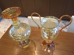 Set of blown glass vases for Sale in Miami, FL
