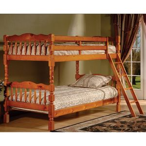 Brand New Twin Size Honey Wood Bunk Bed for Sale in Silver Spring, MD