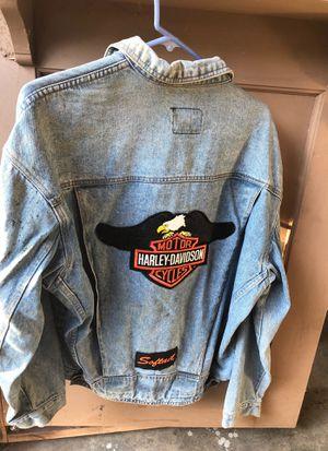 Vintage excellent Harley Davidson Denim men's jacket for Sale in Fresno, CA