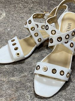 Vaneli White Grommet Sandals Sz 7 for Sale in Knightdale,  NC