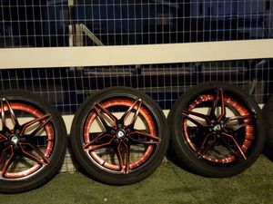Marquee Luxury 20' Rims plus brand new tires and set of Spacers for Sale in Valley Center, CA