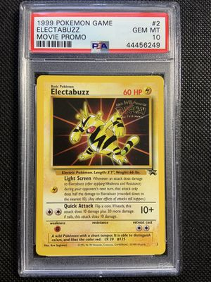 1999 psa 10 gem mint pokemon electabuzz movie promo for Sale in La Mesa, CA