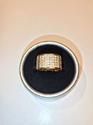 Unisex- 18K Yellow Gold plated Diamond Ring for Sale in Houston, TX