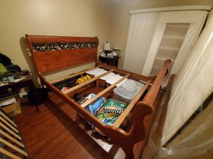 California King Wood bed frame for Sale in La Verne, CA