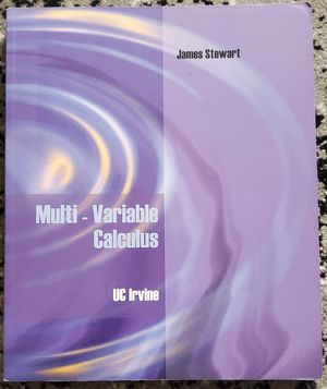 Multi-Variable Calculus (James Stewart) for Sale in Buena Park, CA
