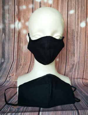 Adult Face mask, Facemask (Black): Hand made mask, reversible, reusable, washer and dryer safe. #halloweem costumes #Milwaukee for Sale in Signal Hill, CA