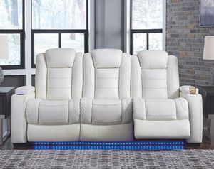 EXCLUSIVE] Party Time White LED Power Reclining Living Room Set with Adjustable Headrest for Sale in Jessup, MD