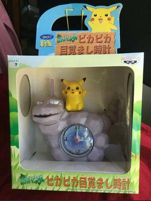 Pokemon Pikachu Onix alarm clock for Sale in Puyallup, WA