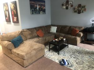 Tan sectional couch for Sale in Newport News, VA
