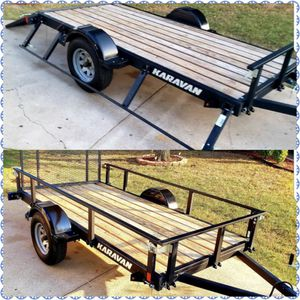Karavan 2237 lb. 5 x 10 Payload Capacity Utility Trailer with removeable sides!!! for Sale in Fort Worth, TX