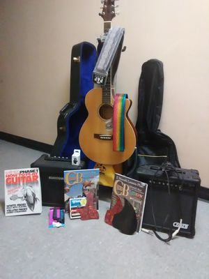 Galveston acoustic electric guitar and bundled pkg. for Sale in Erie, PA