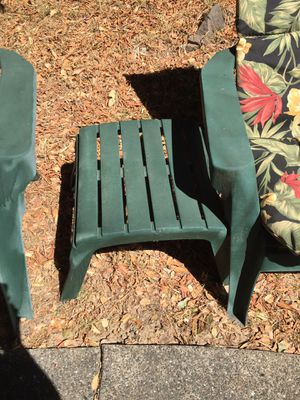 Patio or garden furniture. With reversible cushions and footstool for Sale in San Rafael, CA
