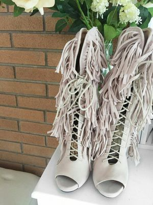 Fringe, stone color, stilettos, boot for Sale in Parma Heights, OH