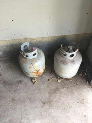 Two Propane Tanks (one empty one half full) for Sale in Minneapolis, MN