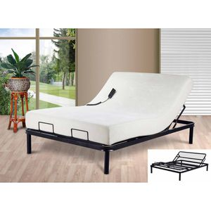 Primo adjustable queen sized bed with memory foam mattress and leather frame for Sale in Anaheim, CA