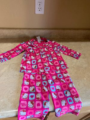 Toddler girl hello kitty pjs 2pc set size 2T very warm $4firm for Sale in Laveen Village, AZ