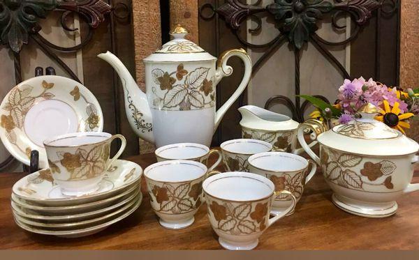 Vintage Hand Painted Tea Set Made In Japan