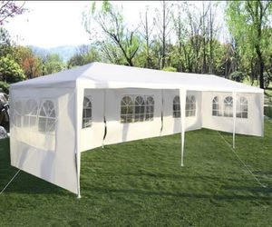 New 10'x30' Heavy Duty Canopy Gazebo Outdoor Party Wedding Tent Pavilion with 5 Removable Side Walls for Sale in Burbank, CA