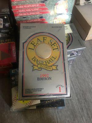 1992 Leaf Baseball Card box for Sale in Huntington Beach, CA