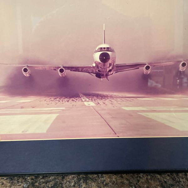 Framed Airplane Photograph