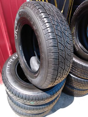 Set 225/70/16 Bridgestone Dueler H/T used $260 Includes installation and balance for Sale in Stanton, CA
