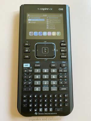 TI-nspire CX CAS - Graphing Calculator for Sale in Mount MADONNA, CA
