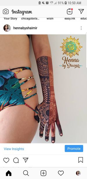 Natural Henna Tattoos(Temporary Tattos) for Sale in Biscayne Park, FL
