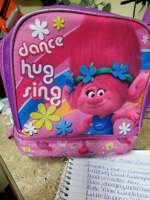 Trolls pink lunch box double zippers for Sale in Land O Lakes, FL
