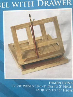 Solana Adjustable Wood Desktop Easel with Drawer US Art Supply for Sale in Phoenix, AZ