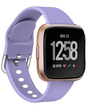 Sport Strap for Fitbit Versa Smart Watch (Small, Lavender) for Sale in St. Petersburg, FL