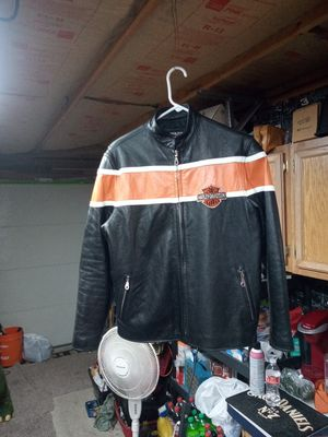Harley Davidson leather jacket by Cowboy custom leather size sm. -med. No. tag for Sale in Denver, CO