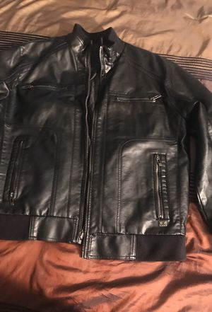 Calvin Klein leather jacket for Sale in Silver Spring, MD