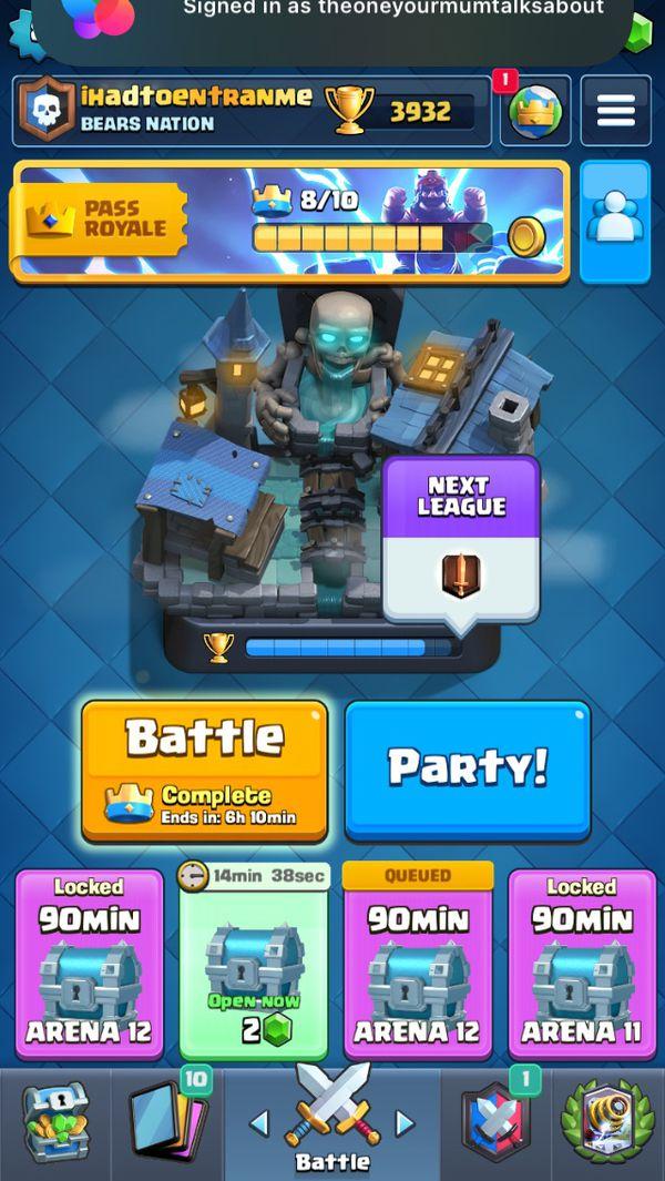 Clash Royale arena 12 level 8