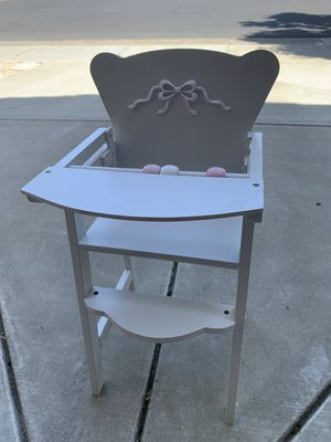 FREE Kid's doll high chair for Sale in San Ramon, CA
