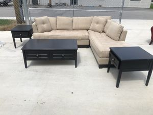 Sectional Couch with tables for Sale in Tullahoma, TN
