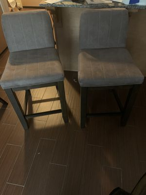 Two high chairs perfect for island counter tops. for Sale in Stamford, CT
