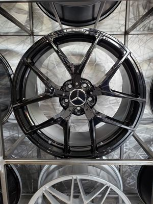 "Gloss black mercedes AMG style wheels fit S Class E class 19"" staggered rim wheel tire shop for Sale in Tempe, AZ"