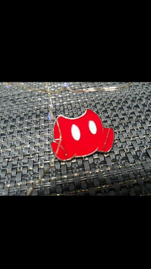 Disney trading pin Mickey mouse red pants for Disneyland landyard for Sale in Phoenix, AZ