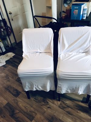 Bar stools with new white covers for Sale in Portland, OR