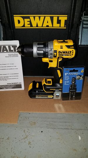 New Dewalt 20v MAX XR Brushless hammer drill with battery and socket attachments for Sale in Ashburn, VA